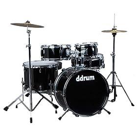 ddrum D1 JR Complete 5-piece Drum Set, Black 8