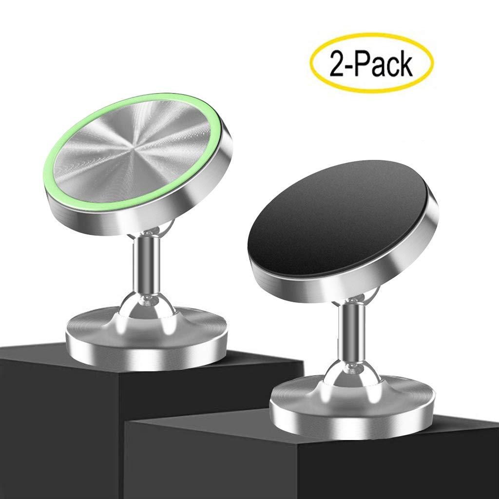 Handyhalterung f/ür iPhone Samsung Huawei etc 720 /° drehbare Autotelefonhalterung mit super starkem Haftmagneten TQAME 2er Pack magnetischer Handyhalter