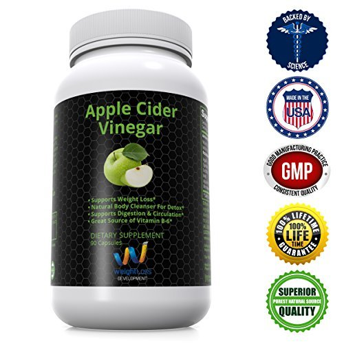 APPLE CIDER VINEGAR Pills Capsules Natural Cleanse Digestive Detox Weight Loss Supplement Burn Fat and Clean Your System at the Same Time Remove Excess Water and Detoxify 90 tablets