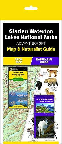Glacier/Waterton Lakes National Parks Adventure Set: Travel Map & Wildlife Guide
