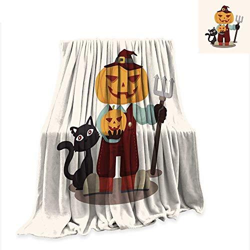 (Anniutwo Custom Design Cozy Flannel Blanket Halloween Party Costume Theme Elements)