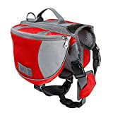 Amzdeal Portable Dog Backpack Outdoor Pet Carrier Oxford Cloth Red in 3 Size
