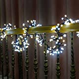 WED 400 LED Twinkle Lights,Christmas Cluster Lights 23 Foot with Warm White and White Lights with 8 Twinkle Function for Christmas Decor Trees Parties Bedroom