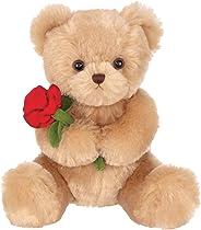 Bearington Remington Valentines Plush Stuffed Animal Teddy Bear with Rose, 9.5 Inches