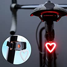 EVESUN Bicycle Rear Tail Light , USB Rechargeable LED Light Waterproof Safety Bike Lights Ultra Bright Cycling Light for Bicycles , Helmets , Backpacks