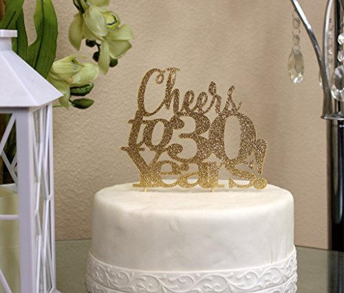 all-about-details-gold-cheers-to-30-years-cake-topper