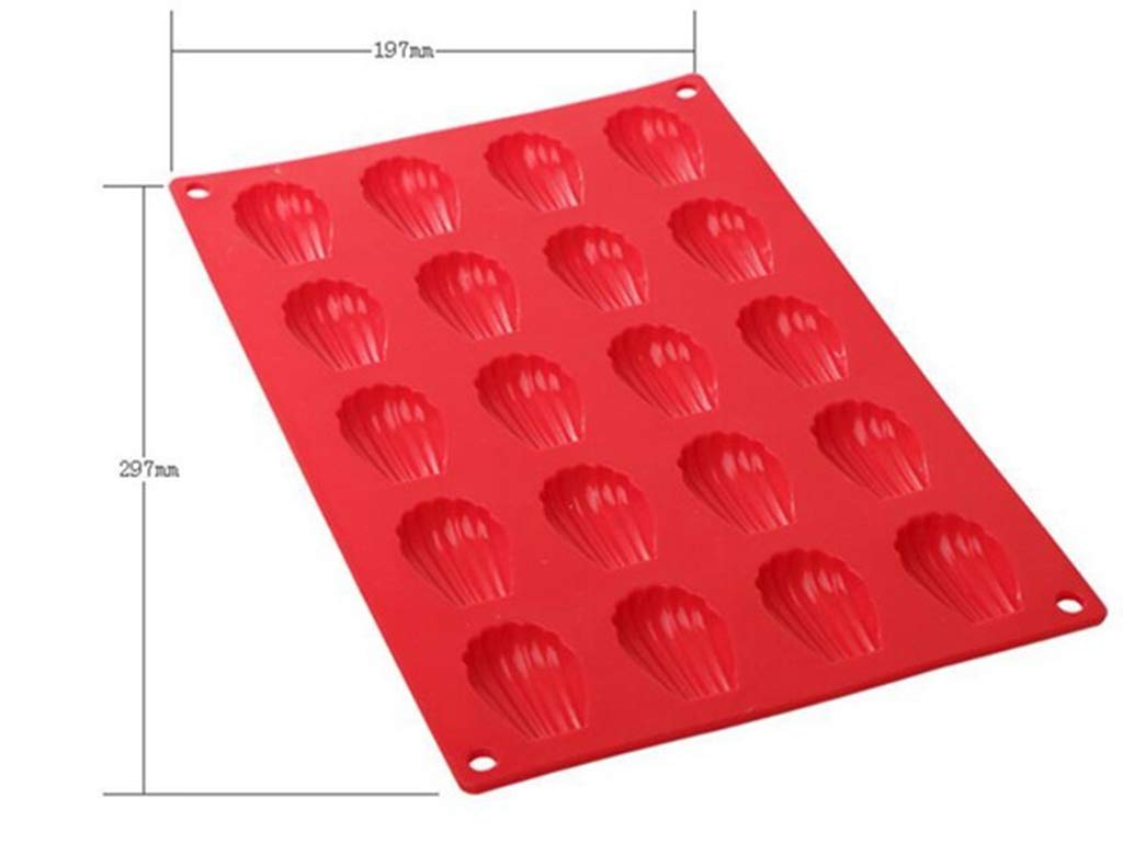 Silicone Madeleines Mold 20 Holes Silicone Savoy Lin Chiffon Cake Mold Cake Pudding Tray Biscuit Chocolate Bakeing Tool