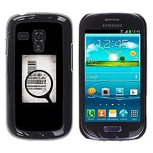 Qstar Arte & diseño plástico duro Fundas Cover Cubre Hard Case Cover para Samsung Galaxy S3 III MINI (NOT REGULAR!) / I8190 / I8190N ( Money Body Sell Symbolic Art Quote)