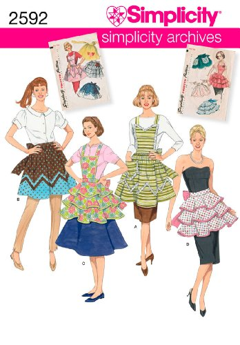 Simplicity 2592 Kitchen Aprons Sewing Pattern for Women by Simplicity Archives, Sizes ()