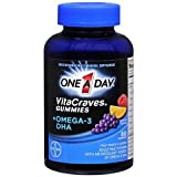One A Day Vitacraves Plus Omega-3 DHA Gummies, 80-Count (Pack of 3) , One-d7uk Review