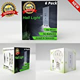 LED Night Light Wall Outlet Duplex Cover 6 Pack Hallway Lights, Bathroom, Bedroom,