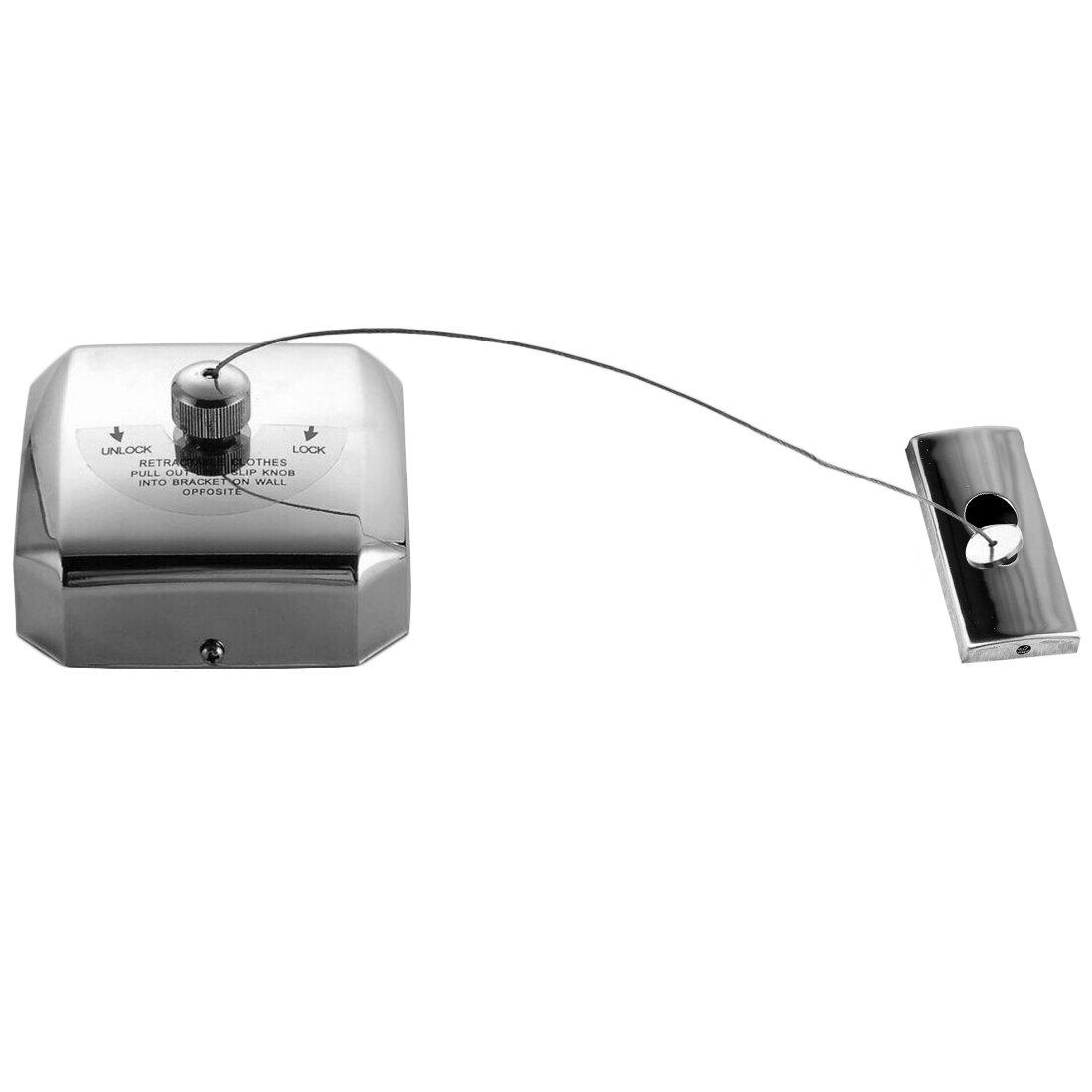 Filo Stendibiancheria, Lommer 4M Acciaio Inossidabile Retrattile Filo Stendibiancheria Acciaio Inox Clothesline per Interni ed Esterni