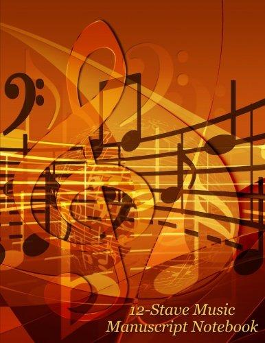 12-Stave Music Manuscript Notebook - Gold Treble Clef (Music Composition Books) ebook