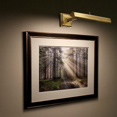 WAC Lighting PL-LED14-27-PN 14in Polished Nickel Hemmingway LED Picture Light, Small, Polishied