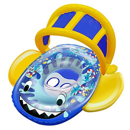 SwimSchool Aqua Leisure Friendly Shark Baby Boat by Aqua Leisure