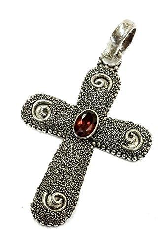 unique-sterling-silver-925-twist-dots-crucifix-red-garnet-crystal-jerusalem-18