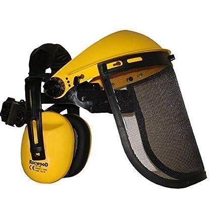 Casco de seguridad RocwooD con protectores auditivos y protección visera