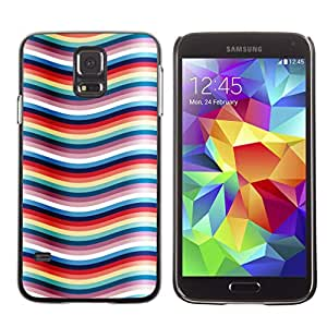Graphic4You RIPPLES PATTERN Thin Slim Rigid Hard Case Cover for Samsung Galaxy S5