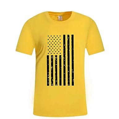 Camiseta Hombre, ZARLLE Camiseta de Manga Corta con