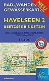 Rad-, Wander- und Gewässerkarte Havelseen 2: Beetzsee bis Ketzin: BUGA 2015 Havelregion. Mit BUGA-Route und BUGA-Expressroute. Mit Klein Kreutz, ... Berlin/Brandenburg / Maßstab 1:35.000)