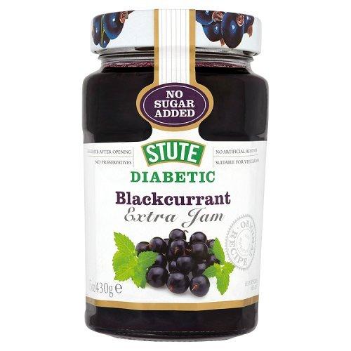 Stute No Added Sugar Diabetic Blackcurrant Jam (430g) ()