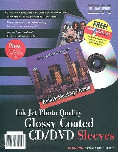 Ibm Photo - IBM Photo Quality Glossy Inkjet Printable CD/DVD Sleeves
