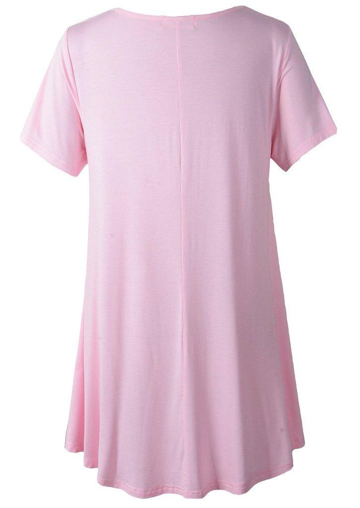a4abf3bb61c LARACE Women Short Sleeves Flare Tunic Tops for Leggings Flowy Shirt ...