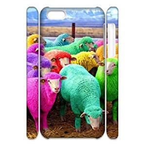 Diy Cute Sheep Phone Case for iphone 5c iphone 5c White Shell Phone JFLIFE(TM) [Pattern-1]