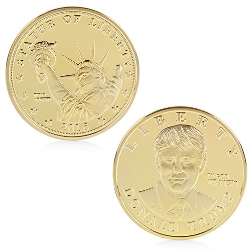 Delight eShop 2016 US Presidential Candidate Donald Trump Gold Plated Commemorative Coin Token