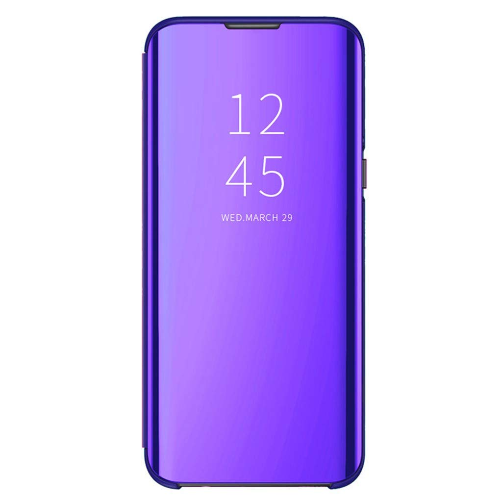 WoCoo Case Cover for Phone, Smart View Mirror Flip Stand Case Cover for Samsung Galaxy S10 6.4inch Sleep Wake Function(Purple, for Samsung Galaxy S10 6.4 inch)