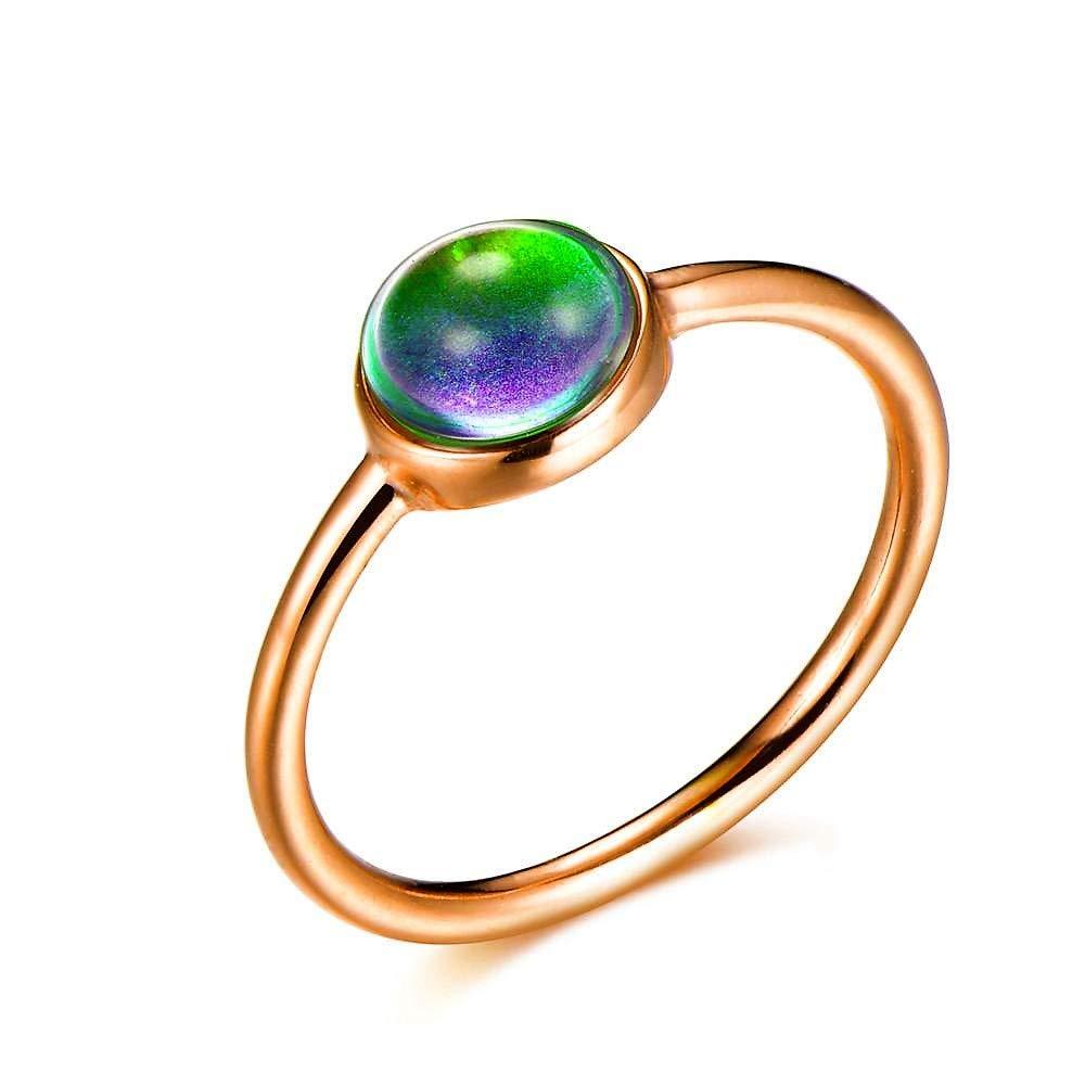 Ello Elli Minimalist//Dainty Style Stainless Steel Mood Ring