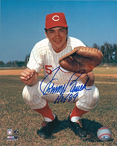 Autographed Johnny Bench Cincinnati Reds 8x10 Photo with COA