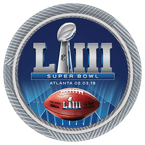 Super Bowl 53 Dessert Plates Value Party Pack (24ct)