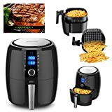 Cheap BOWUTTD Digital Air-fryer XL 5.5-Quarts Touchscreen Healthy Oilless 1800w Power Electric Air Fryer Oven Black Air Cooker with Receipts Cookbook