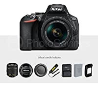 Nikon D5600 DSLR Camera And 18-55mm Lens Kit W/ Total of 48 GB Memory Card + Telephoto & Wideangle Lens + Xpix Lens Handling Accessories with Basic Bundle by Photo Savings