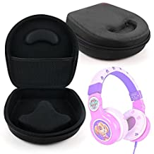 Hard 'Shell' EVA Headphone Pouch Case (Black) - Compatible with Paw Patrol Skye Kid-Friendly Headphones - by DURAGADGET