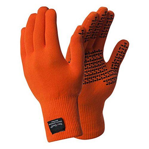 Dexshell Thermfit Glove with Thermolite Liner for Lightweight Warmth, Tangelo Red, Medium