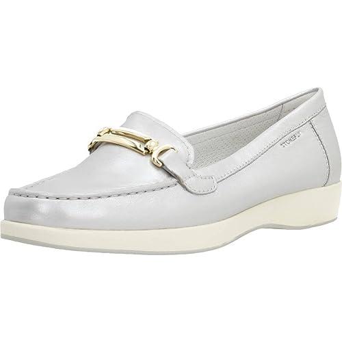 Mocasines para Mujer, Color Plateado, Marca STONEFLY, Modelo Mocasines para Mujer STONEFLY 106165 Plateado: Amazon.es: Zapatos y complementos