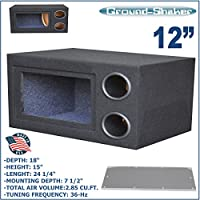 12 Ported tube Bandpass subwoofer enclosure speaker box sub box Ground-shaker