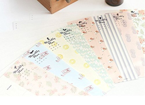 Iconic Weekly, Monthly Desk Pad Ver.2 / Pattern Scheduler (Monthly)