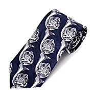 """French Horn"" Novelty Tie (Navy)"