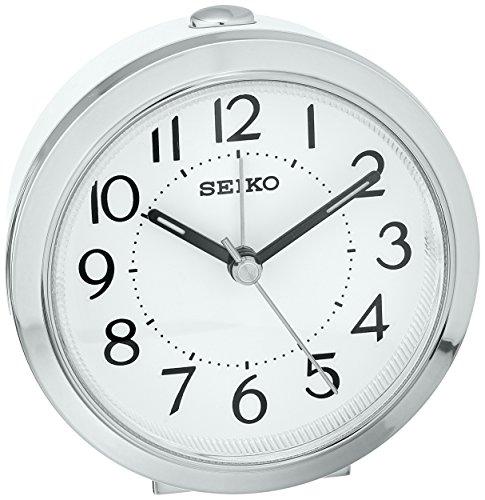 Seiko Plastic Alarm Clock (Model: QHE146SLH)