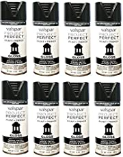 Spray Paint and Primer - 8 PACK, Gloss Black, Valspar. Indoor and Outdoor Use; Wood, Metal, Wicker and More