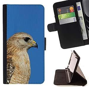 - Queen Pattern FOR Samsung Galaxy S3 III I9300 /La identificaci????n del cr????dito ranuras para tarjetas tir????n de la caja Cartera de cuero cubie - blue hawk golden brown beak