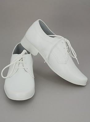 279196980d3cb Boutique-Magique Chaussures Blanche pour garçon - Mariage ou Communion   Amazon.fr  Chaussures et Sacs