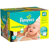 Pampers Swaddlers Disposable Diapers Size 2, 204 Count (Packaging May Vary)