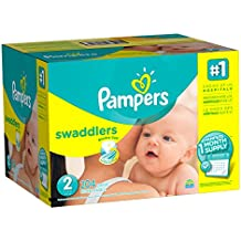 Pampers Swaddlers Disposable Diapers Size 2, 204 Count, ONE MONTH SUPPLY