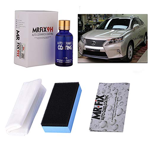 Autokcan 9H Nano Ceramic Coating for Cars,High Gloss Anti-Scratch Automotive Ceramic Coating Car Kit Liquid Car Hydrophobic Paint Sealant Protection,30ML