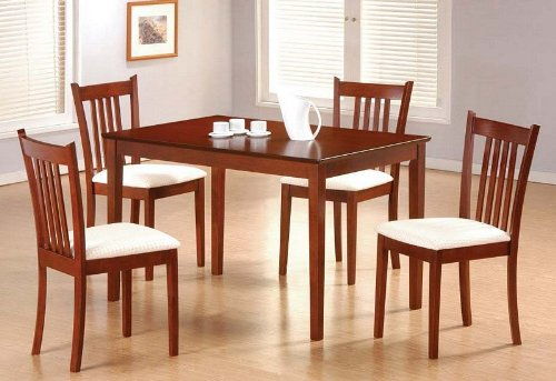 Rich Tobacco Finish 5 Piece Dining Set by Coaster Furniture