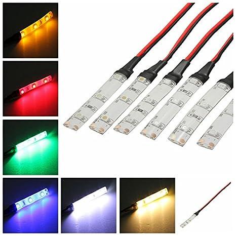 Rouge Viviance 1Pc DC 12V Ip65 3528 SMD 3Leds Moto Car Strip Light Lamp